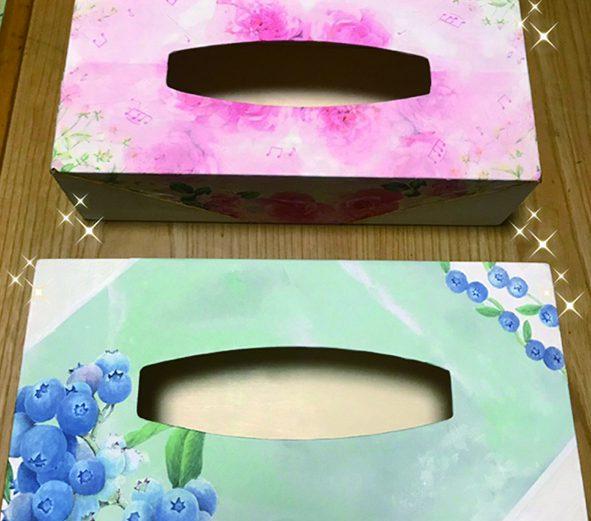 テッシュケース(デコパージュ) 各  ¥2,000